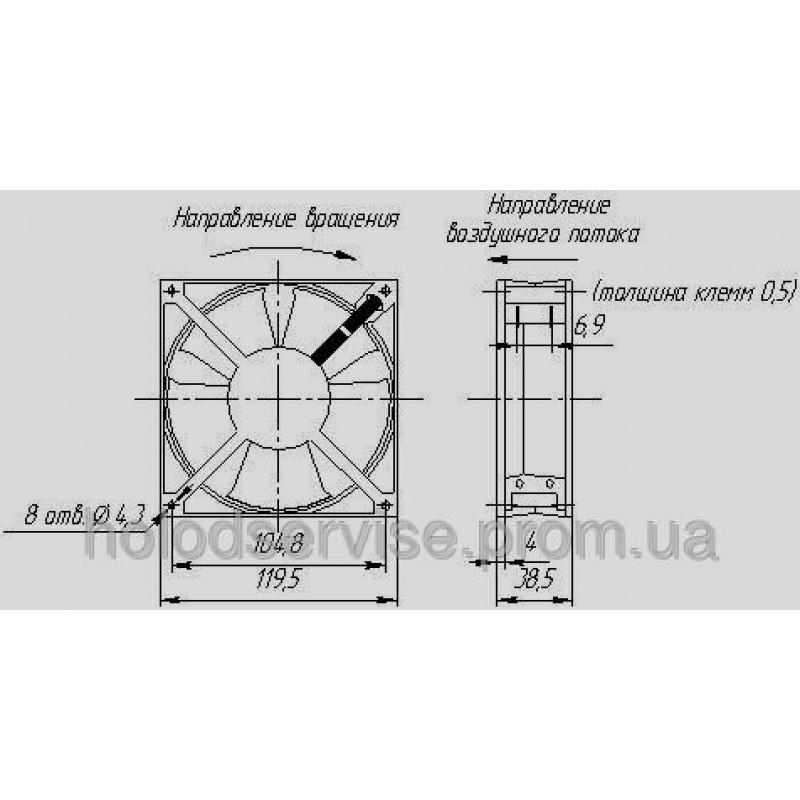 Вентилятор SUNON DP200A, 220В, 120х120х38мм
